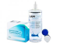 PureVision 2 (6линз) +РастворLaim-Care400 мл