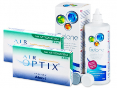 Air Optix for Astigmatism (2x3 линзы) + Раствор Gelone 360 мл
