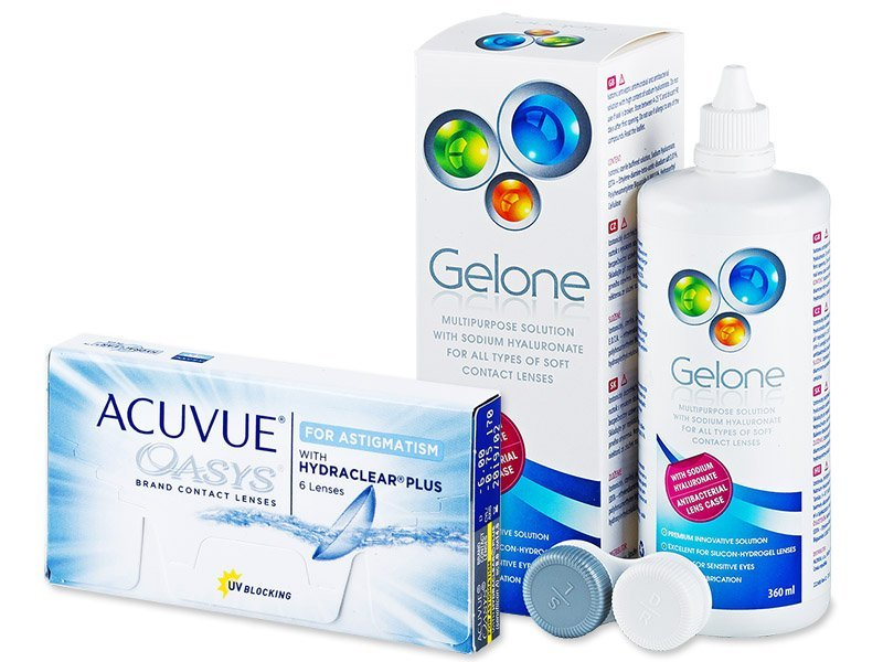 Acuvue Oasys for Astigmatism (6линз) +Раствор Gelone360мл