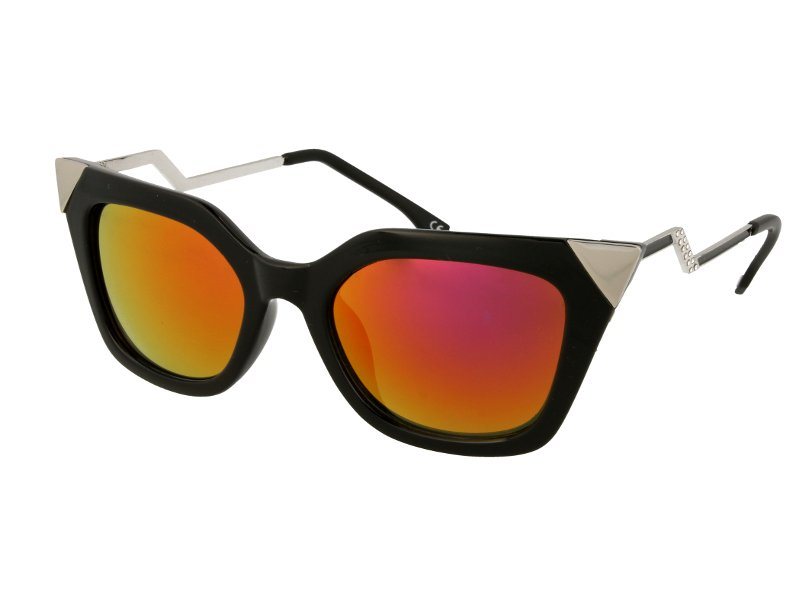 Солнцезащитные очки Alensa Cat Eye Shiny Black Mirror