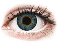 Blue контактные линзы - натуральный эффект - с диоптриями - Air Optix (2 месячные цветные линзы)