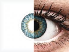 Blue контактные линзы - натуральный эффект - Air Optix (2 месячные цветные линзы)