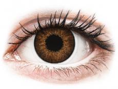 Brown контактные линзы - натуральный эффект - Air Optix (2 месячные цветные линзы)