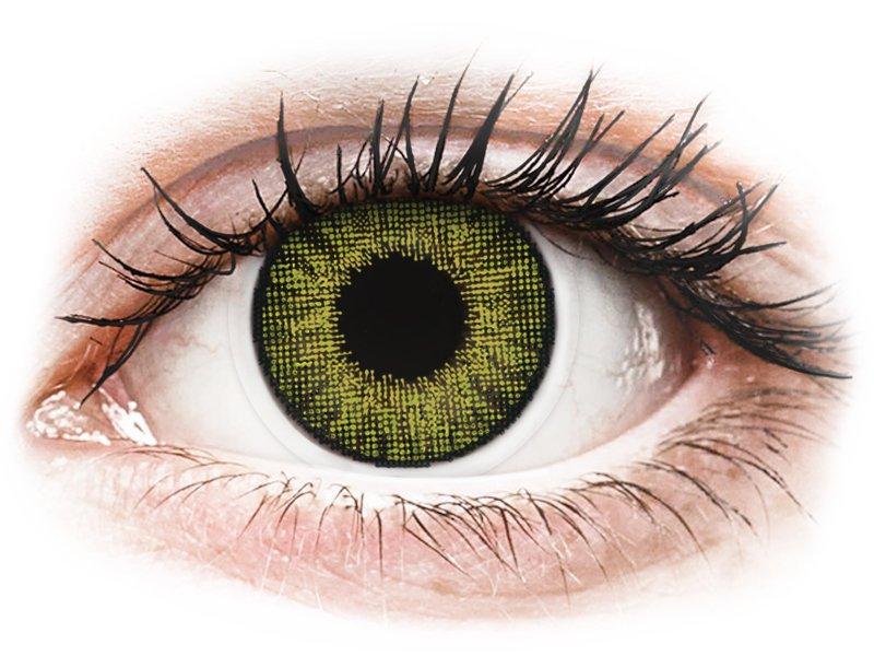 Gemstone Green контактные линзы - натуральный эффект- Air Optix (2 месячные цветные линзы)