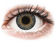 Grey контактные линзы - натуральный эффект - с диоптриями - Air Optix (2 месячные цветные линзы)
