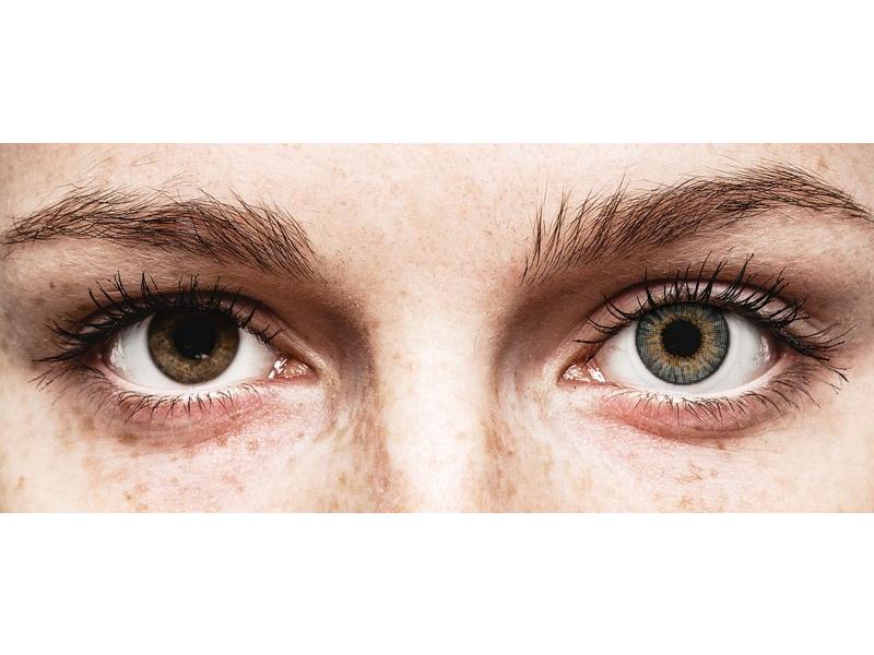 Grey контактные линзы - натуральный эффект - Air Optix (2 месячные цветные линзы)