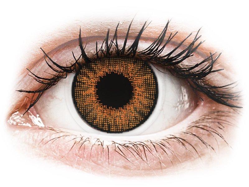 Brown Honey месячные цветные линзы - с диоптриями - Air Optix (2 месячные цветные линзы)
