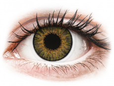 Brown Pure Hazel контактные линзы - натуральный эффект - с диоптриями - Air Optix (2 месячные цветные линзы)
