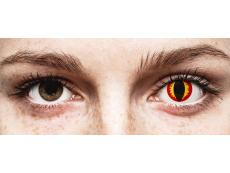 Red and Yellow Dragon Eyes контактные линзы - ColourVue Crazy (2 цветные линзы)