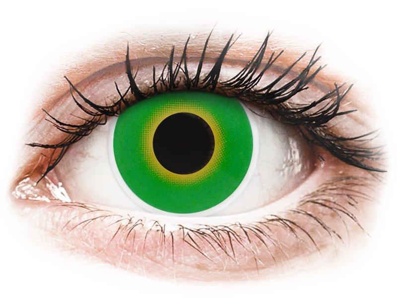 Green Hulk Green контактные линзы - ColourVue Crazy (2 цветные линзы)