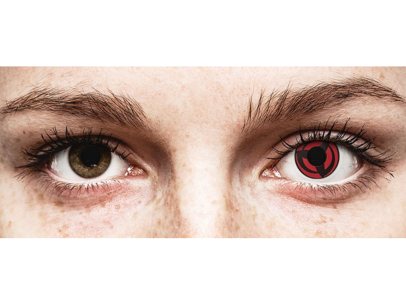 Red Kakashi контактные линзы - ColourVue Crazy (2 цветные линзы)