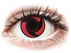 Red Mangekyu контактные линзы - ColourVue Crazy (2 цветные линзы)