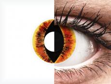Orange Saurons Eye контактные линзы - ColourVue Crazy (2 цветные линзы)