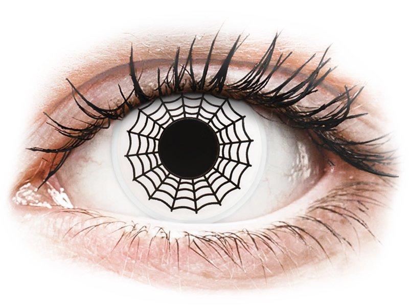 Black and White Spider контактные линзы - ColourVue Crazy (2 цветные линзы)