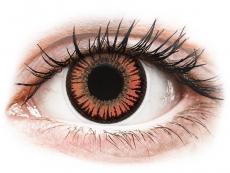 Red Orange Vampire контактные линзы - ColourVue Crazy (2 цветные линзы)