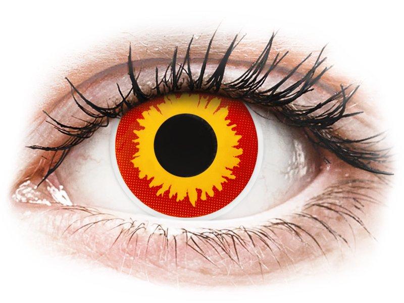 Red and Yellow Wildfire контактные линзы - ColourVue Crazy (2 цветные линзы)