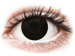 Black BlackOut контактные линзы - с диоптриями - ColourVue Crazy (2 цветные линзы)