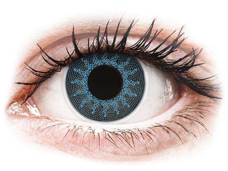 Solar Blue контактные линзы - с диоптриями - ColourVue Crazy (2 цветные линзы)