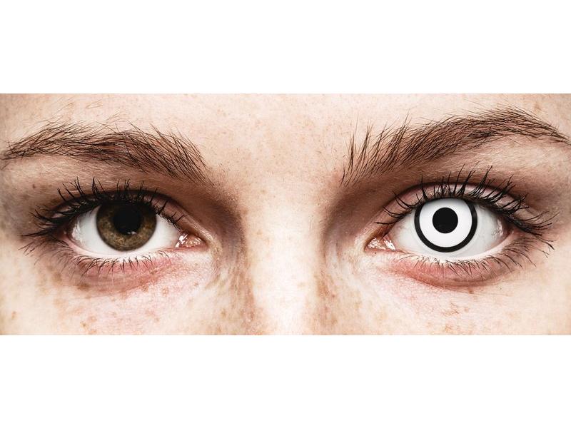 White Zombie контактные линзы - с диоптриями - ColourVue Crazy (2 цветные линзы)