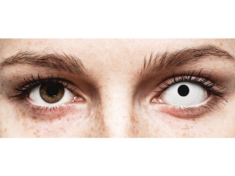 White WhiteOut контактные линзы - с диоптриями - ColourVue Crazy (2 цветные линзы)