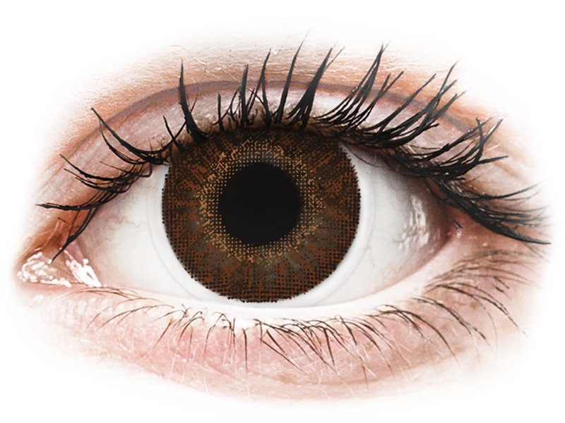 Brown контактные линзы - с диоптриями - TopVue Color (2месячные цветные линзы)