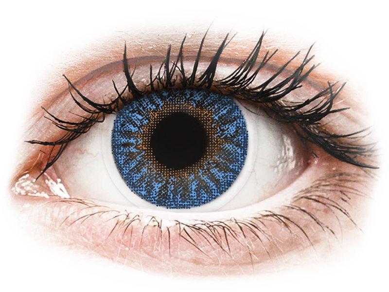 Blue True Sapphire контактные линзы - с диоптриями -TopVue Color (2месячные цветные линзы)