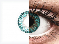 Линзы Turquoise - TopVue Color (с диоптриями) (2 линзы)