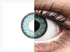 Blue Aqua Glamour контактные линзы - с диоптриями - ColourVue (2 цветные линзы)