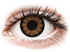 Sexy Brown контактные линзы - с диоптриями - ColourVue BigEyes (2 цветные линзы)