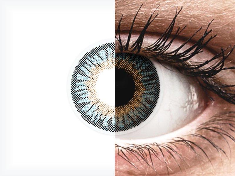 Blue 3 Tones контактные линзы - с диоптриями - ColourVue (2 цветные линзы)