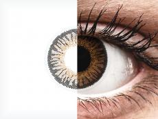 Brown 3 Tones контактные линзы - с диоптриями - ColourVue (2 цветные линзы)