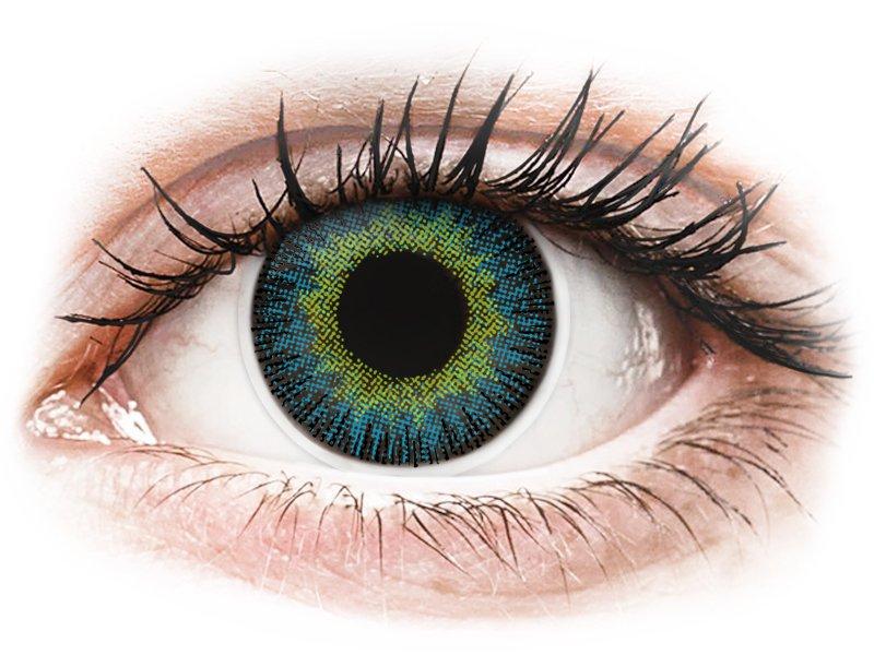 Yellow Blue Fusion контактные линзы - ColourVue (2 цветные линзы)