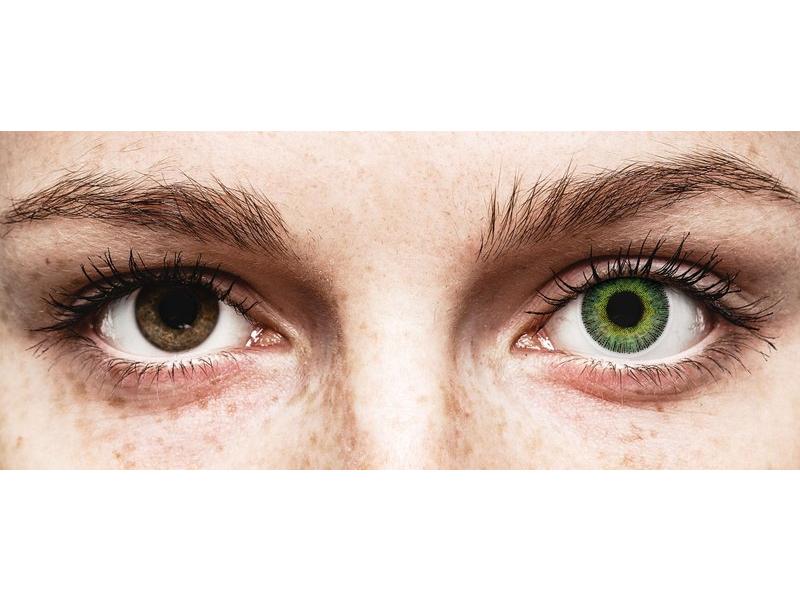 Green Yellow Fusion контактные линзы - с диоптриями - ColourVue (2 цветные линзы)