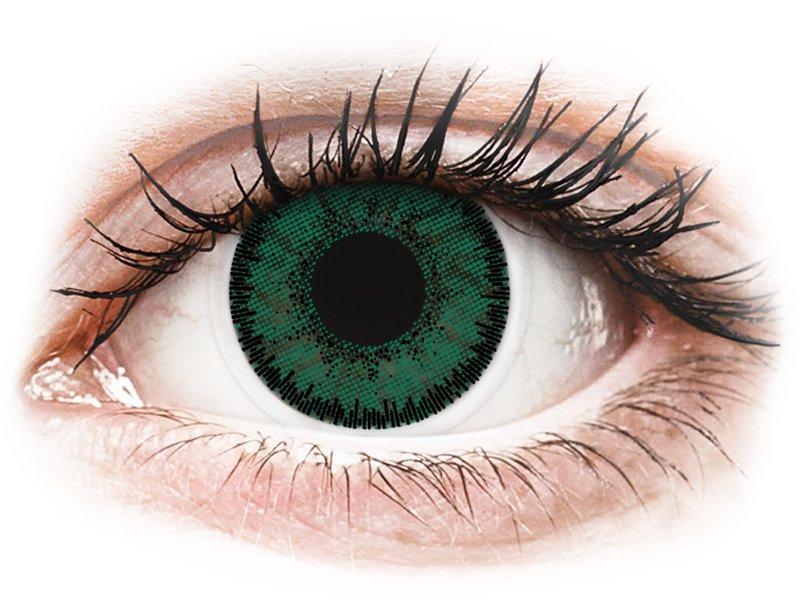 Green Amazon контактные линзы - SofLens Natural Colors - С диоптриями (2 месячные цветные линзы)
