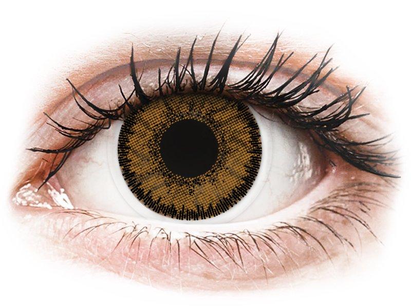Brown India контактные линзы - SofLens Natural Colors - С диоптриями (2 месячные цветные линзы)