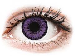 Purple Indigo контактные линзы - SofLens Natural Colors - Power (2 месячные цветные линзы)