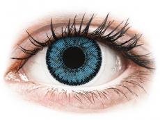 Blue Pacific контактные линзы - SofLens Natural Colors - с диоптриями (2 месячные цветные линзы)