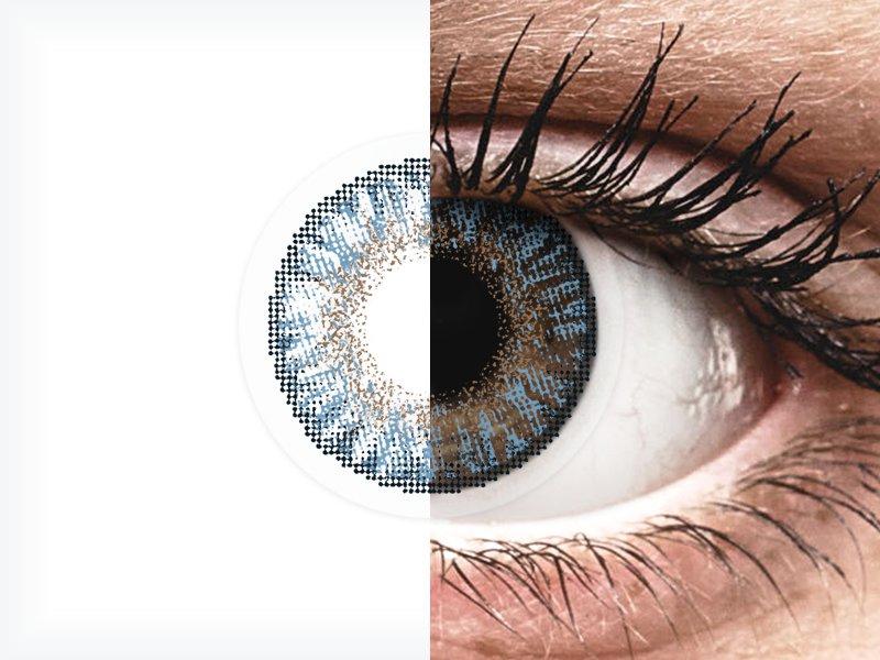Blue Контактные линзы - FreshLook ColorBlends - с диоптриями (2 месячные цветные линзы)