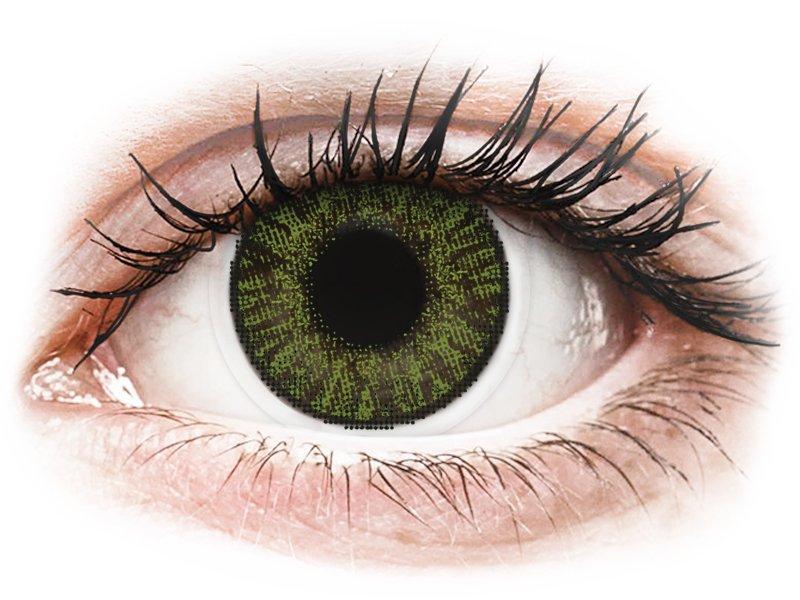 Green контактные линзы - FreshLook ColorBlends (2 месячные контактные линзы)