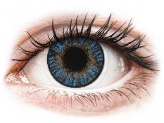 True Sapphire контактные линзы - FreshLook ColorBlends - С диоптриями (2 месячные цветные линзы)