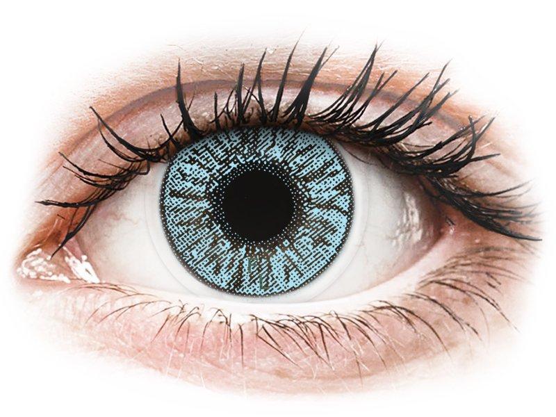 Blue контактные линзы - FreshLook Colors - C диоптриями (2 месячные цветные линзы)