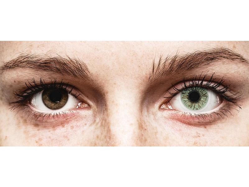 Green контактные линзы - FreshLook Colors - с диоптриями (2 месячные цветные линзы)