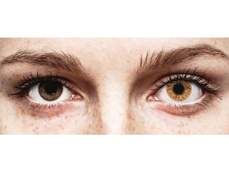 Hazel контактные линзы - FreshLook Colors - Power (2 месячные цветные линзы)