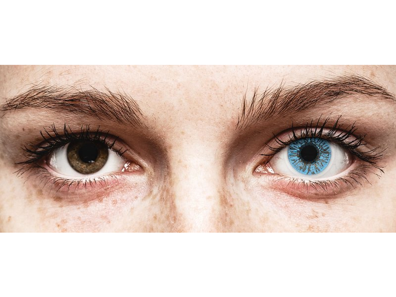 Sapphire Blue контактные линзы - FreshLook Colors - с диоптриями (2 месячные цветные линзы)