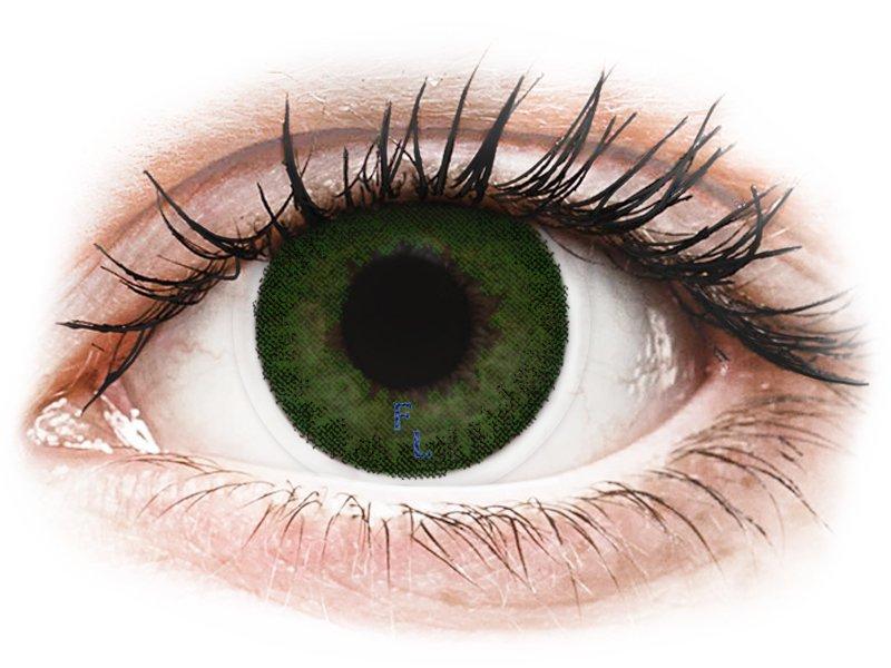 Sea Green контактные линзы - FreshLook Dimensions - С диоптриями (6 месячных цветных линз)