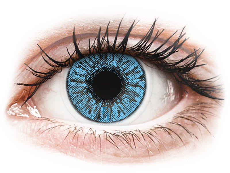 Sapphire Blue контактные линзы - FreshLook Colors (2 месячные цветные линзы)