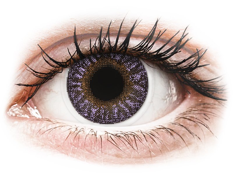 Violet контактные линзы - с диоптриями - TopVue Color (2месячные цветные линзы)