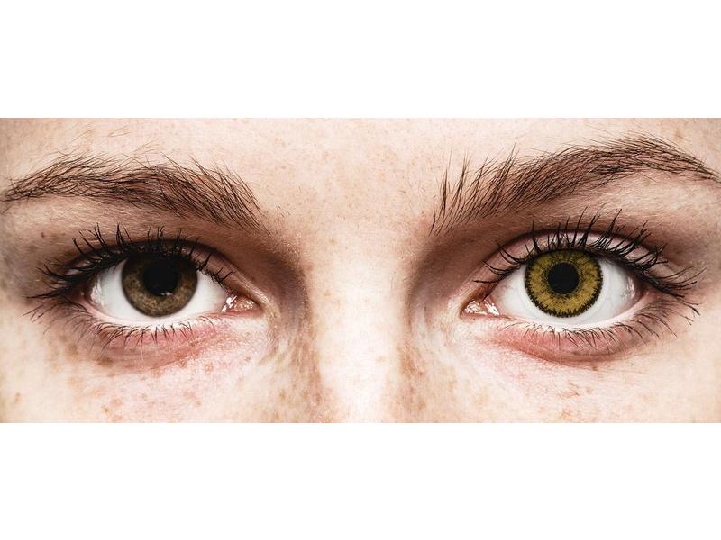 Dark Hazel контактные линзы - SofLens Natural Colors (2 месячные цветные линзы)
