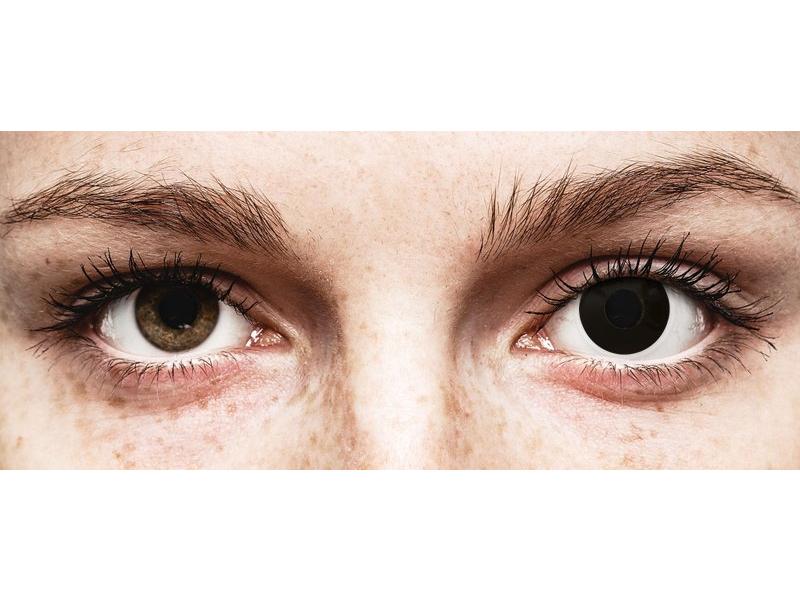 Black BlackOut контактные линзы - ColourVue Crazy (2 однодневные цветные линзы)