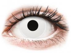 White WhiteOut контактные линзы - ColourVue Crazy (2 однодневные цветные линзы)